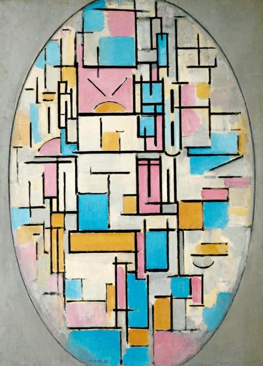 Пит Мондриан «Композиция в овале с цветными плоскостями I»