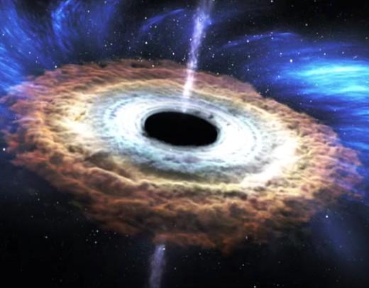 Приблизительно так выглядит черная дыра