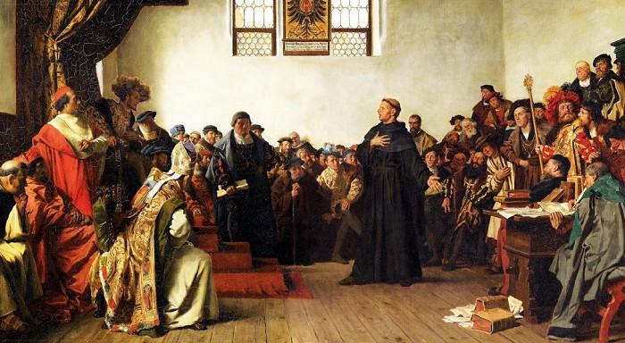 Антон фон Вернер. Лютер в Вормсе