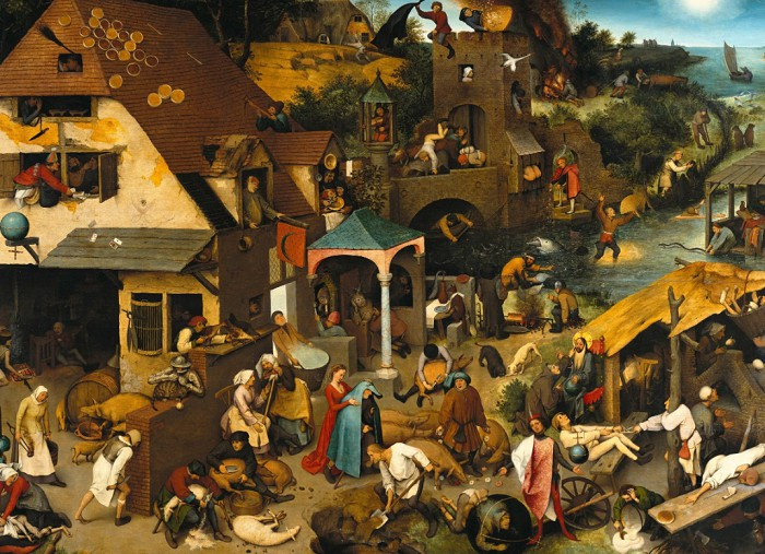 Питер Брейгель Старший. Фламандские пословицы. 1559