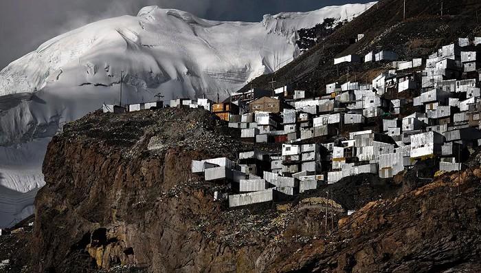 в Перуанских Андах на высоте 4500 м