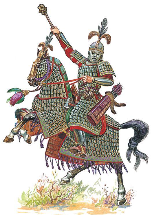 Тяжеловооруженный монгольский воин