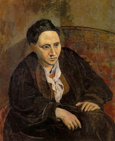П. Пикассо. Портрет Гертруды Стайн. 1906 г.