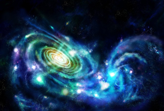 столкновение двух галактик