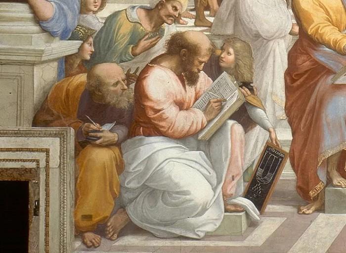 Афинская школа. Фрагмент фрески. Рафаэль Санти