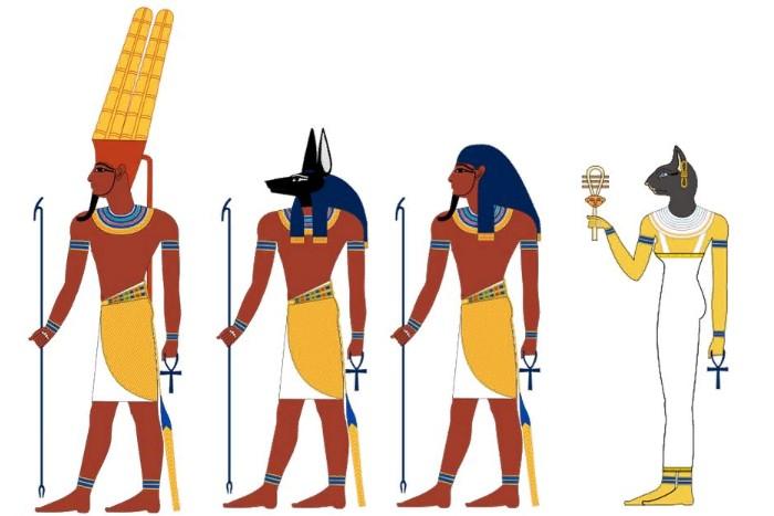 картинки богов древних египтян было
