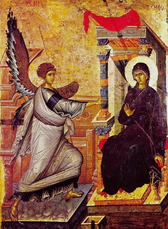 Благовещение. XIV в. Церковь Св. Климента в Охриде