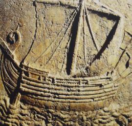 Древнее изображение финикийского корабля