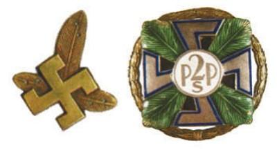 Эмблемы польских стрелков горно-стрелковых подразделений