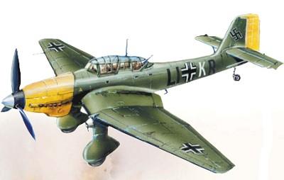 Германские пикировщики Ju 87