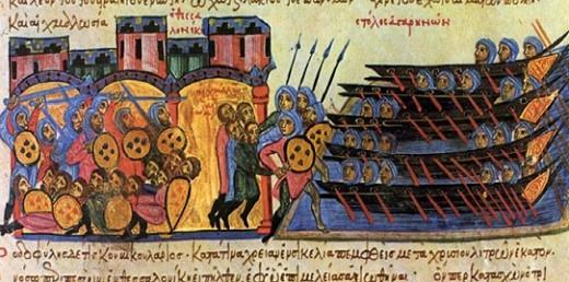 Арабы захватывают Фессалоники. Работа Калакидаса. XI–XII вв.