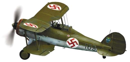 Британский истребитель «Глостер Гладиатор» в латвийских ВВС