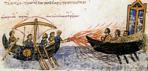 Миниатюра из книги «Обозрение истории» Иоанна Скилицы. XII в.