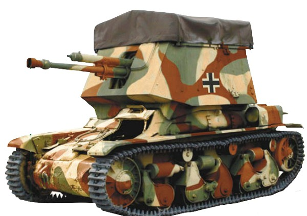 Германская 47-мм противотанковая СУ на базе легкого танка «Рено» R-35