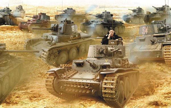 2 немецких танка «Панцер»