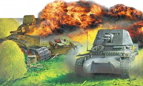 Противотанковая 47-мм СУ «Панцеръягер» I поразила Т-34 в мотор