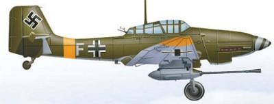 Пикировщик Ju 87 с 37-мм противотанковой пушкой