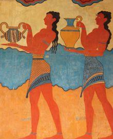 Роспись на стене Кносского дворца — резиденции царя Миноса