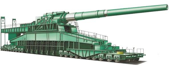 Германская 800-мм пушка «Дора»