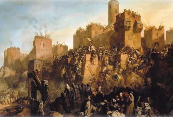 Взятие Иерусалима гроссмейстером ордена тамплиеров Жаком де Моле в 1299 г.