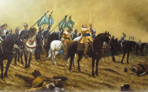 Густав-Адольф в сражении при Брейтенфельде. 1631 г