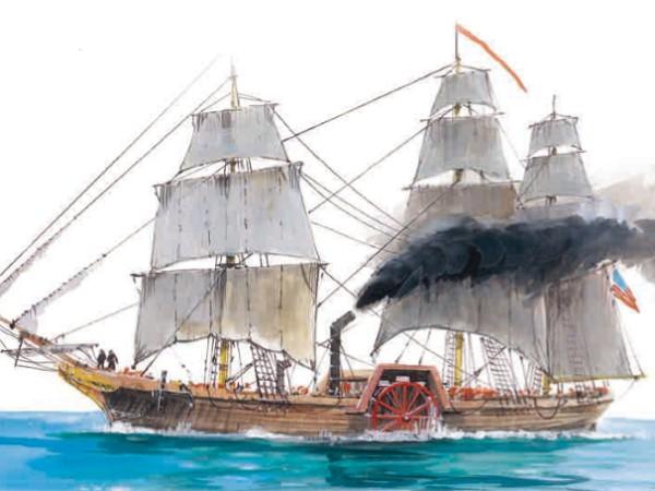 Парусно-паровой корабль «Саванна»