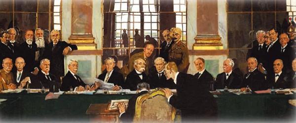 У. Орпен. Подписание мира в Зеркальном зале Версальского дворца 28 июня 1919 г.