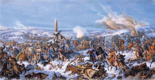 Я. Суходольский. Переправа войск Наполеона через Березину