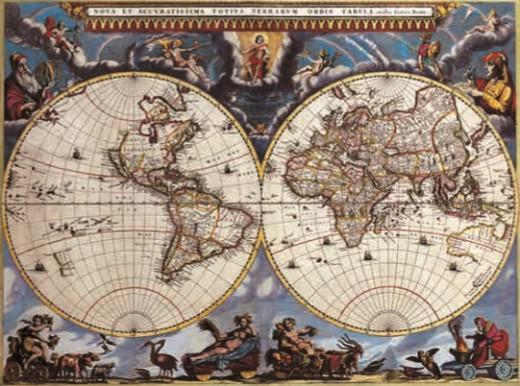 Карта из атласа Герарда Меркатора