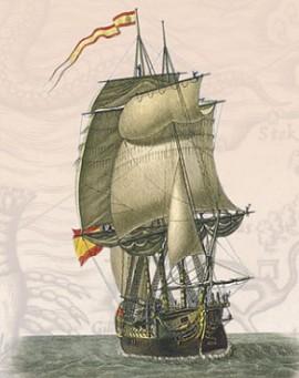 Испанский 80-пушечный корабль