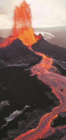 Потоки раскаленной лавы