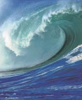 Так океанская волна выглядит около берега
