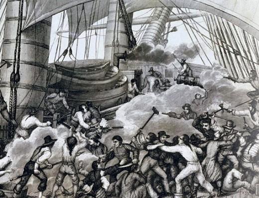 Абордаж корабля Британской Вест-Индской компании