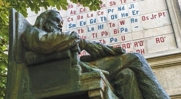 Памятник Д. И. Менделееву у здания НИИ метрологии