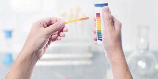 Разному водородному показателю присвоен свой цвет