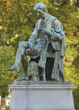 Памятник шведскому химику Карлу Вильгельму Шееле (1742—1786) в Стокгольме
