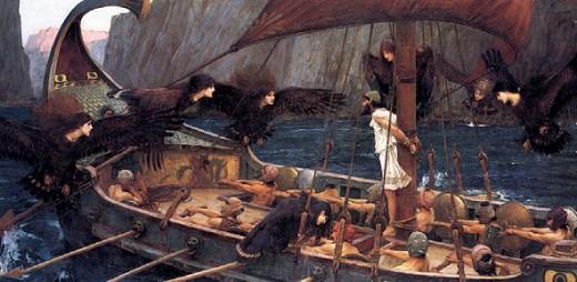 «Одиссей и сирены». Картина Джона Уотерхауса. 1891 г.
