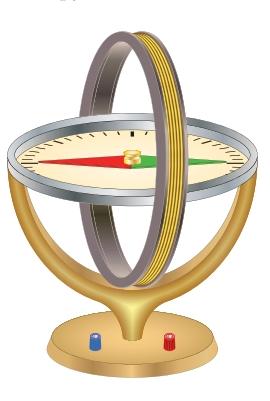 Круглая рамка с током