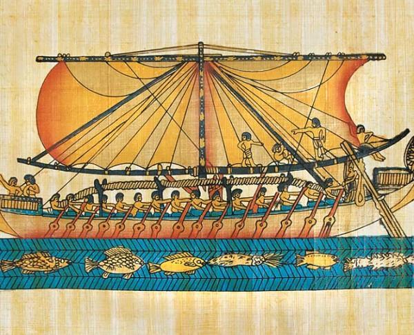 Древнеегипетское парусное судно