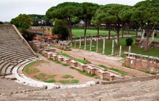 Руины древнеримского города Остия