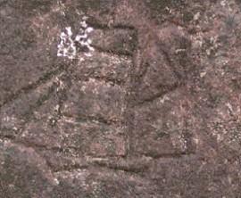 Изображение корабля на скале острова Кокос