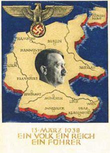 Открытка, выпущенная к годовщине присоединения Австрии к Германии