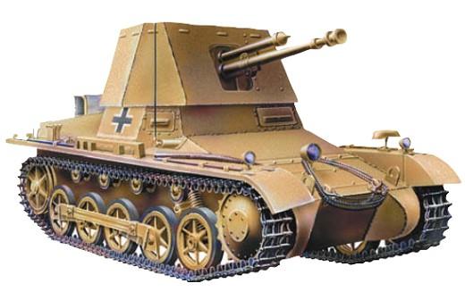 Первая противотанковая самоходка вермахта была вооружена чехословацкой 47-мм пушкой