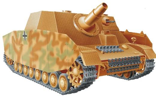 Для «Брумбарра» в 1943 г. была разработана компактная 150-мм гаубица