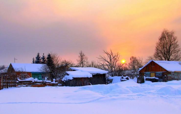 Вечер в русской деревне
