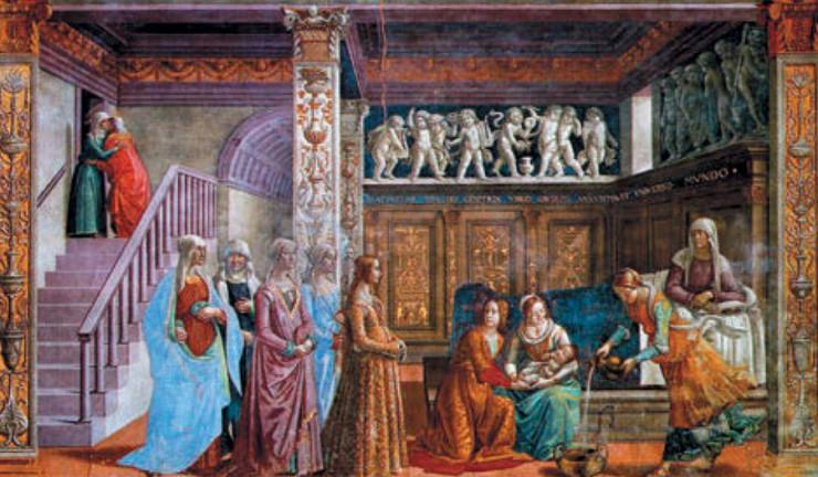 Доменико Гирландайо Рождество Богородицы Фреска.1485–1490