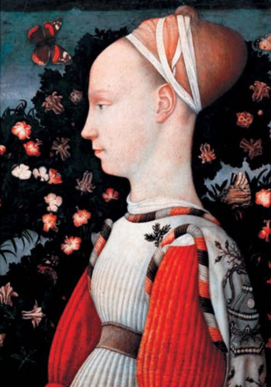 Антонио Пизанелло. Портрет принцессы (портрет Джиневры д'Эсте). Темпера, дерево Ок. 1435–1440