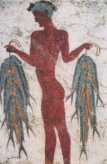 Рыбак с богатым уловом, живший на Санторине 3500 лет назад