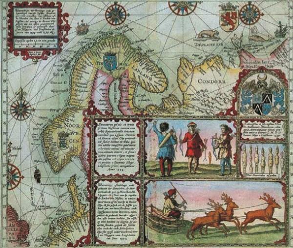 Средневековая карта Северной Европы