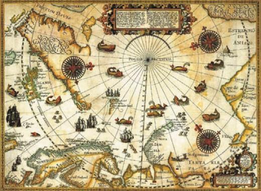 Карта путешествий В. Баренца